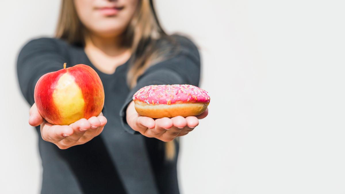 dieta wybór jabłko pączek